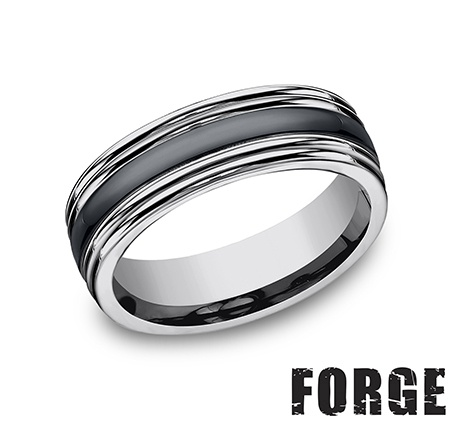 Benchmark | 7mm Tungsten Ring with Ceramic Center | Style No. 001-709-01164 RECF77863CMTG
