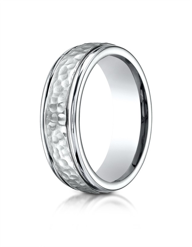 Benchmark | Cobalt Chrome 7mm Hammered Wedding Ring | Style No. 001-709-01168 CF67502CC