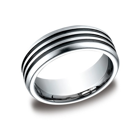 Benchmark | 7.5mm Satin Finish Cobalt Chrome Men's Ring | Style No. 001-709-01178 CF717560CC