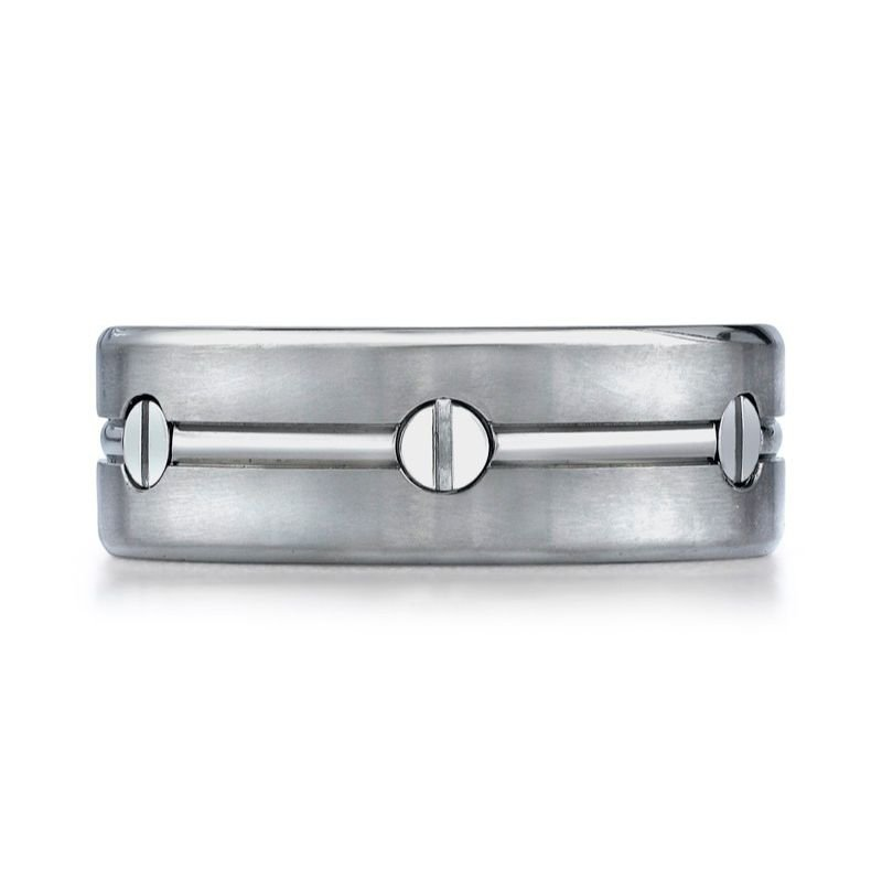 Benchmark | Titanium 8mm Men's Wedding Band | Style No. 001-709-01187 TICF68991T
