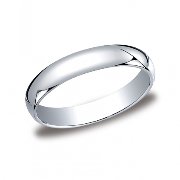 Benchmark | 14K White Gold 4mm Comfort Fit Men's High Polish Ring | Style No. 001-709-01202 LCF14014KW10