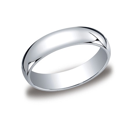 Benchmark | 14K White Gold 5mm Comfort Fit High Polish Ring | Style No. 001-709-01215 LCF15014KW09