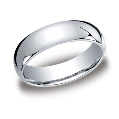 Benchmark | 14K White Gold 6mm Comfort Fit Men's High Polish Ring | Style No. 001-709-01226 LCF16014KW08