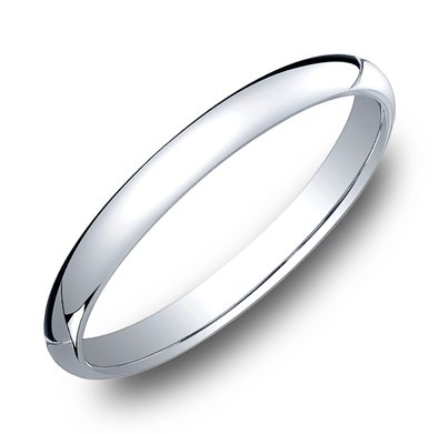 Benchmark | 14K White Gold 2.5mm Comfort Fit High Polish Band | Style No. 001-709-01263 12514KW05
