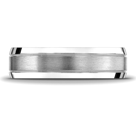 Benchmark | 6mm 14K White Gold Men's Wedding Ring | Style No. 001-709-01631 CF6643614KW10