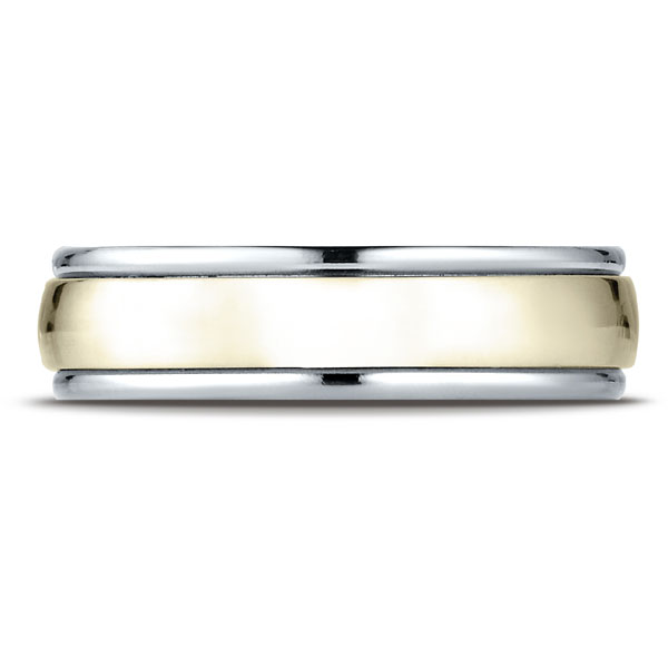 Benchmark | 14K White and Yellow Gold 6mm Ring | Style No. 001-709-01276 CF17608