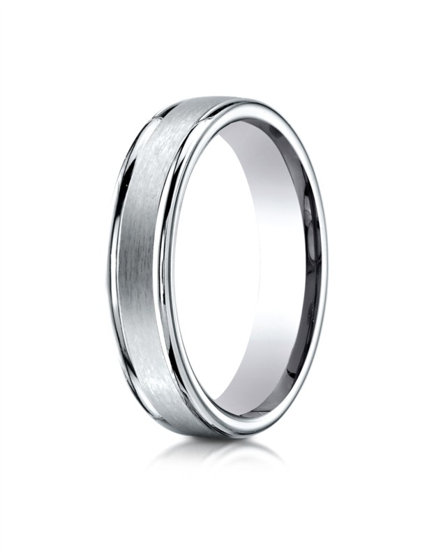 Benchmark | 14K White Gold 4mm Men's Ring | Style No. 001-709-01283 RECF7402S