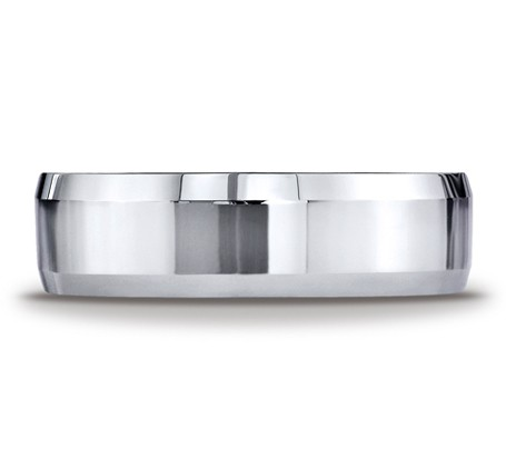 Benchmark | 14K White Gold 6mm Beveled Edge Men's Ring | Style No. 001-709-01287 CF66426