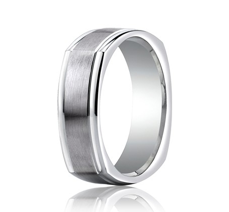 Benchmark | 14K White Gold Comfort Fit Ring | Style No. 001-709-01296 EURECF7702S