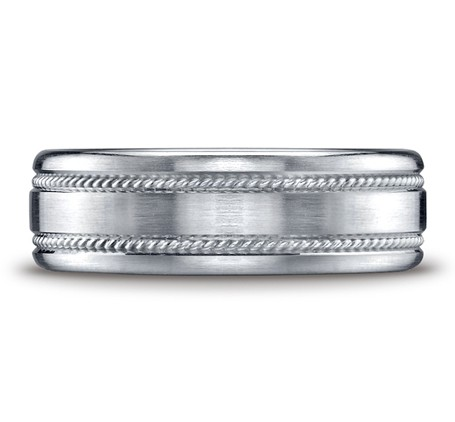 Benchmark | 7.5mm Palladium Ring with Rope Design | Style No. 001-709-01375 CF717504