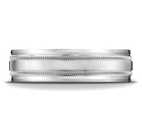 Benchmark | 14K White Gold 7.5mm Satin Finish Ring | Style No. 001-709-01309 RECF7601S