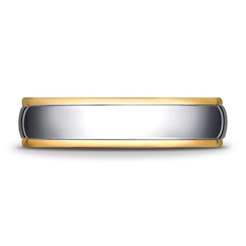 Benchmark | 14K White and Yellow Gold Ring | Style No. 001-709-01321 CF15608