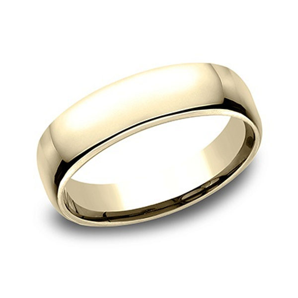 Benchmark | 14K Yellow Gold Euro Comfort Fit Men's Ring | Style No. 001-709-02030 EUCF15514KY08