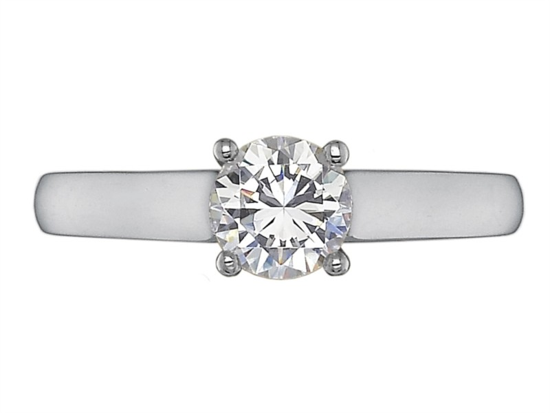 Precision Set Engagement Ring | Platinum Solitaire Setting for Round Center | Style No. 001-711-00002