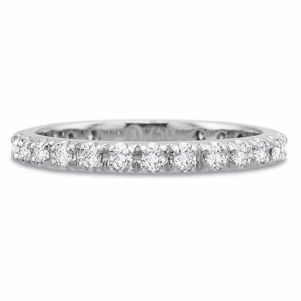 Precision Set Wedding Ring | Platinum Pavéé Eternity Diamond Ring | Style No. 001-711-00111