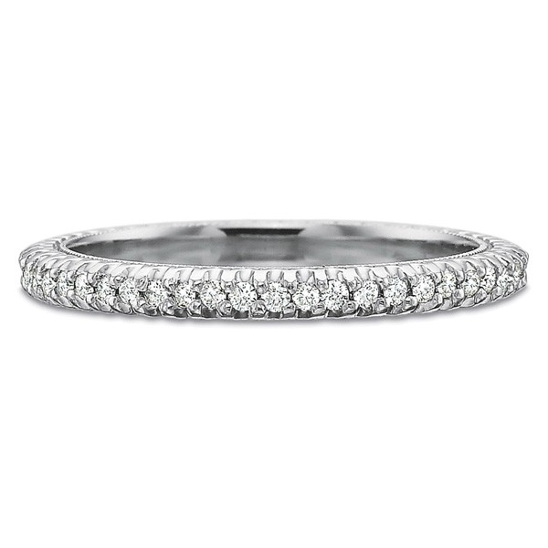 Precision Set Wedding Ring | Platinum Pavéé Eternity Diamond Women's Band | Style No. 001-711-00470