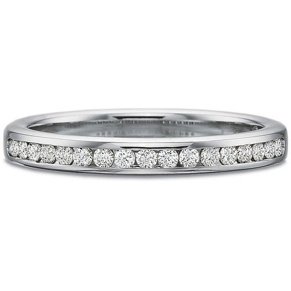 Precision Set Wedding Ring | Platinum Channel Set Round Brilliant Eternity Diamond Ring | Style No. 001-711-00157