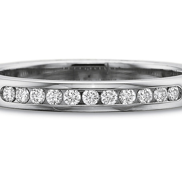 Precision Set Wedding Ring | Platinum Channel Set Diamond Ring | Style No. 001-711-00487