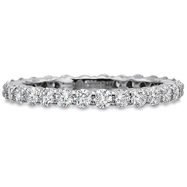 Precision Set Wedding Ring | Platinum Shared Prong Eternity Diamond Ring | Style No. 001-711-00314
