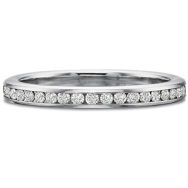 Precision Set Wedding Ring | 18K White Gold Channel Set Diamond Ring with Matte Finish | Style No. 001-711-00588