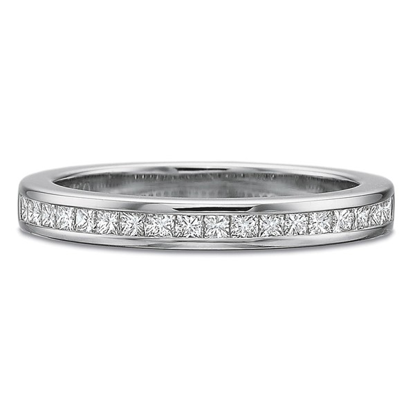 Precision Set Wedding Ring | Platinum Channel Set Princess Diamond Ring | Style No. 001-711-00855