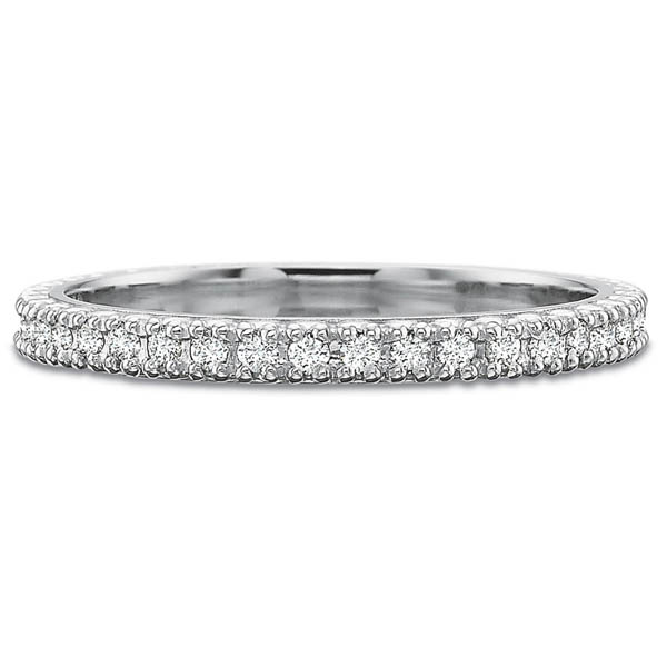Precision Set Wedding Ring | 18K White Gold Prong Set Eternity Diamond Ring | Style No. 001-711-00630