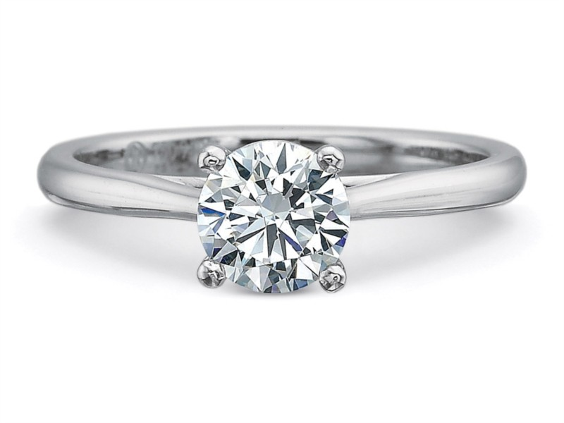 Precision Set Engagement Ring | Platinum Petite Tapered New Aire Engagement Ring | Style No. 001-711-00771