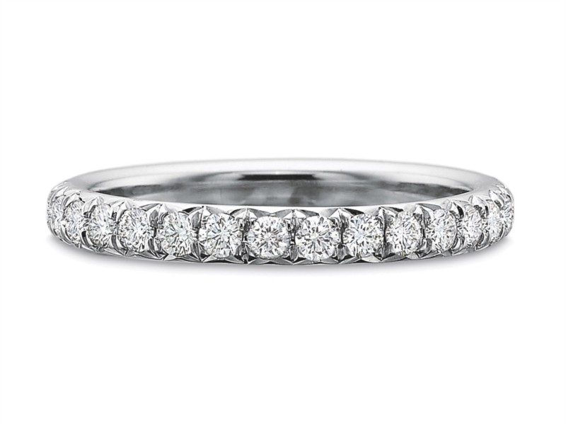 Precision Set Wedding Ring | 18K White Gold French Cut Eternity Diamond Ring | Style No. 001-711-00724