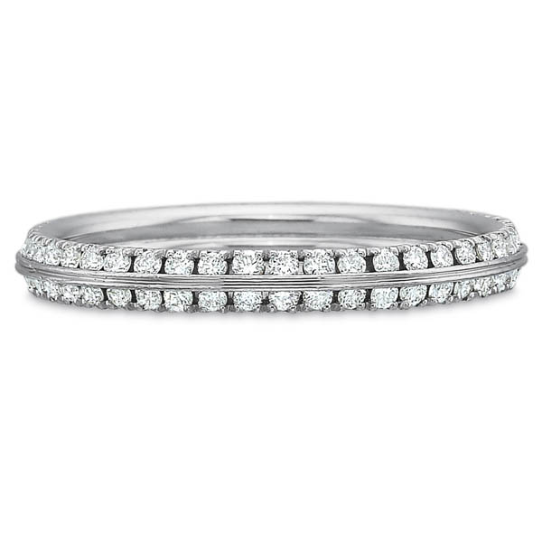 Precision Set Wedding Ring | 18K White Gold Two Row Prong Set Diamond Ring | Style No. 001-711-00729