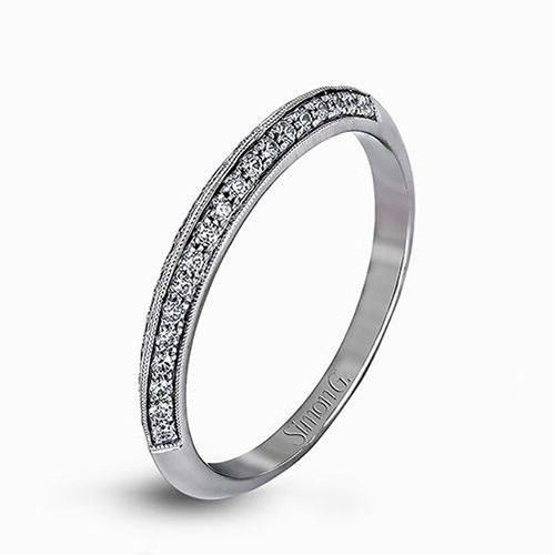 Simon G | Platinum Knife Edge Pavéé Diamond Ring | Style No. 001-718-00262