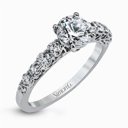 Simon G | 18K White Gold Prong Set Diamond Ring Setting | Style No. 001-718-00437