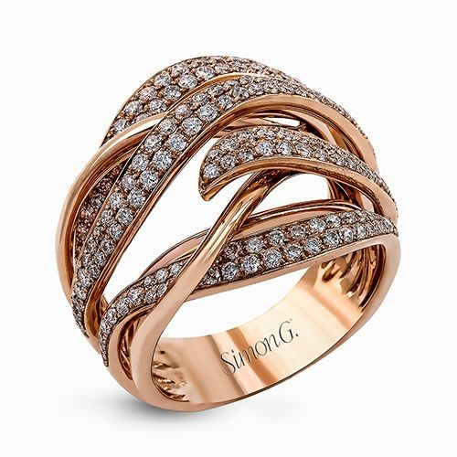 Simon G Fabled Collection | 18K Rose Gold Diamond Ring | Style No. 001-718-00491