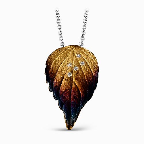 Simon G Organic Allure Collection | 18K Yellow Gold Leaf Pendant | Style No. 001-718-00543
