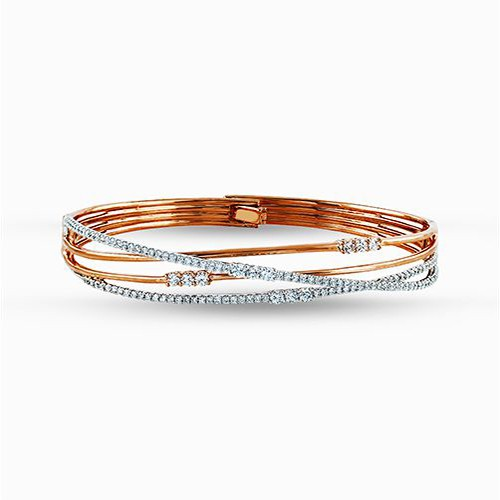 Simon G Fabled Collection | 18K Rose & White Gold Diamond Bangle Bracelet | Style No. 001-718-00592