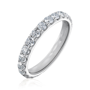 Memoire Odessa Collection | Platinum Shared Prong Comfort Fit Eternity Ring | Style No. 001-721-00116