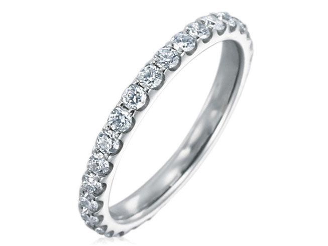 Memoire Odessa Collection | 18K White Gold Diamond Women's Band | Style No. 001-721-00277