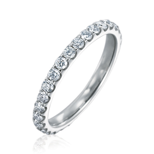 Memoire Odessa Collection | 18K White Gold Diamond Eternity Wedding Band | Style No. 001-721-00284
