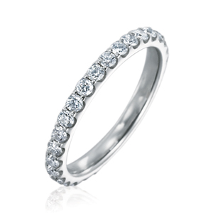 Memoire Odessa Collection | 18K White Gold & Diamond Women's Band | Style No. 001-721-00309