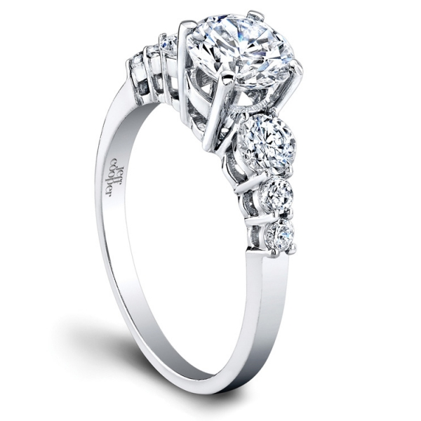 Jeff Cooper Designs | Platinum Shared Prong Diamond Setting for Woman's Ring | Style No. 001-730-00400 R3096