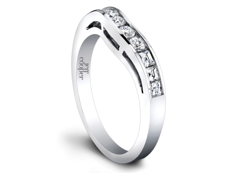 Woman's Jeff Cooper Platinum Contoured Wedding Band | Style No. 001-730-00432