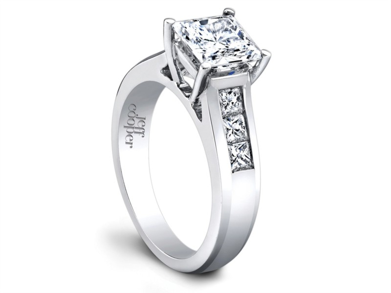 Jeff Cooper Designs | Princess Diamond Engagement Ring Setting | Style No. 001-730-00498 R3146