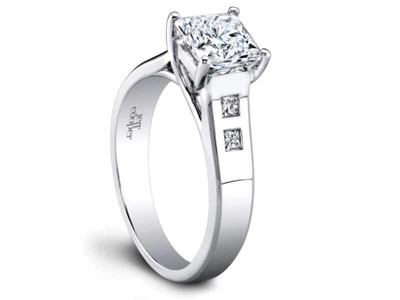 Jeff Cooper Designs | Platinum Setting with Princess Diamond Accents | Style No. 001-730-00757 R2964/P
