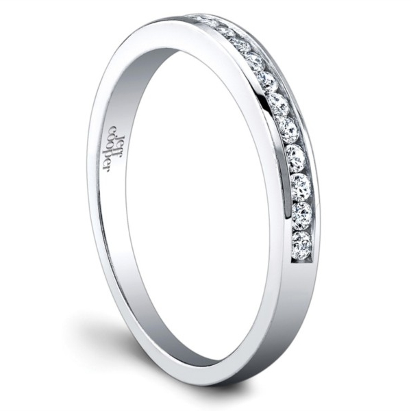 Jeff Cooper | 14K White Gold Channel Woman's Wedding Band | Style No. 001-730-01179