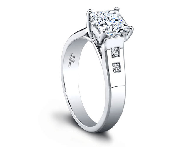 Jeff Cooper | 18K White Gold Setting with Princess Diamond Accents | Style No. 001-730-00833 R2964/PW