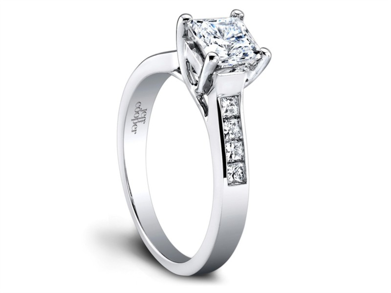 Jeff Cooper | Platinum Channel Set Engagement Ring | Style No. 001-730-01043 R2974