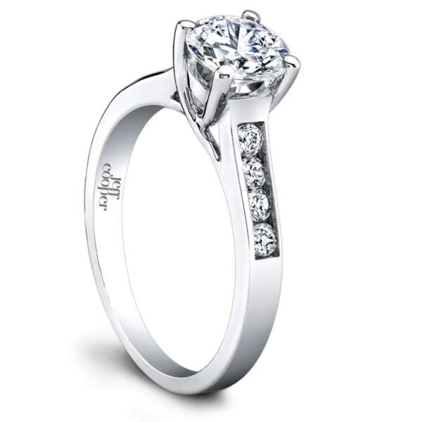 Jeff Cooper | 18K White Gold Round Diamond Engagement Ring | Style No. 001-730-00976 R2976/W