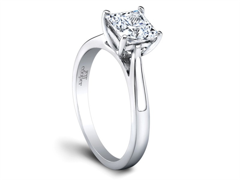 Jeff Cooper | Tapered Solitaire Engagement Ring Setting | Style No. 001-730-00984 R3269/W