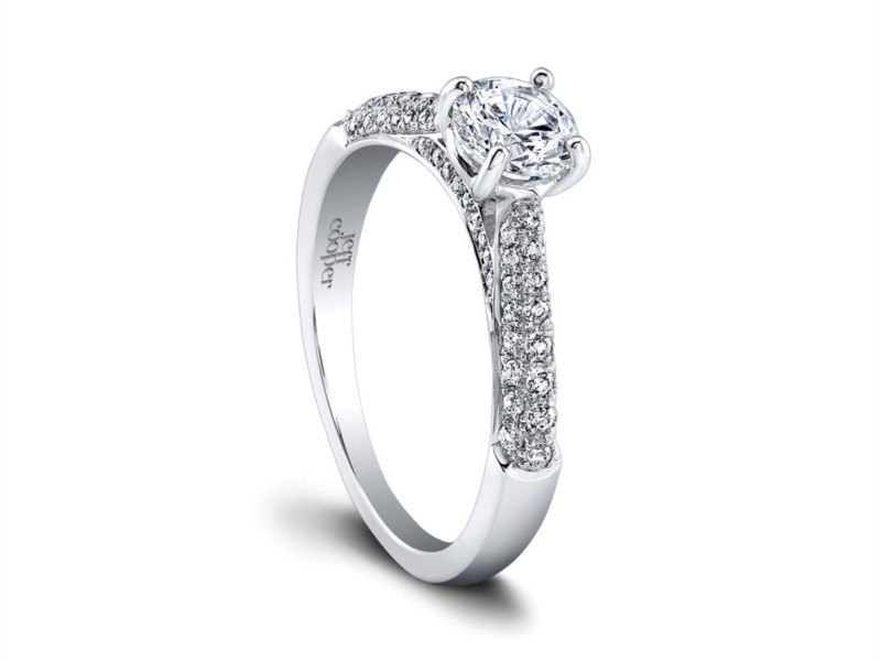 Jeff Cooper | 14K White Gold Pavé Diamond Engagement Ring | Style No. 001-730-01236 RP1500/R5.2C14