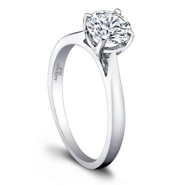 Platinum Solitaire Diamond Engagement Ring R3265/CZ
