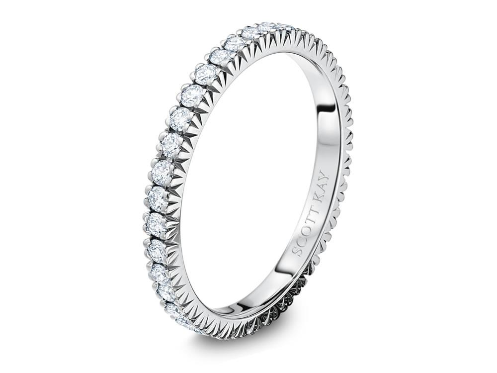 Scott Kay | 14K White Gold Eternity Diamond Wedding Ring | Style No. 001-742-00182